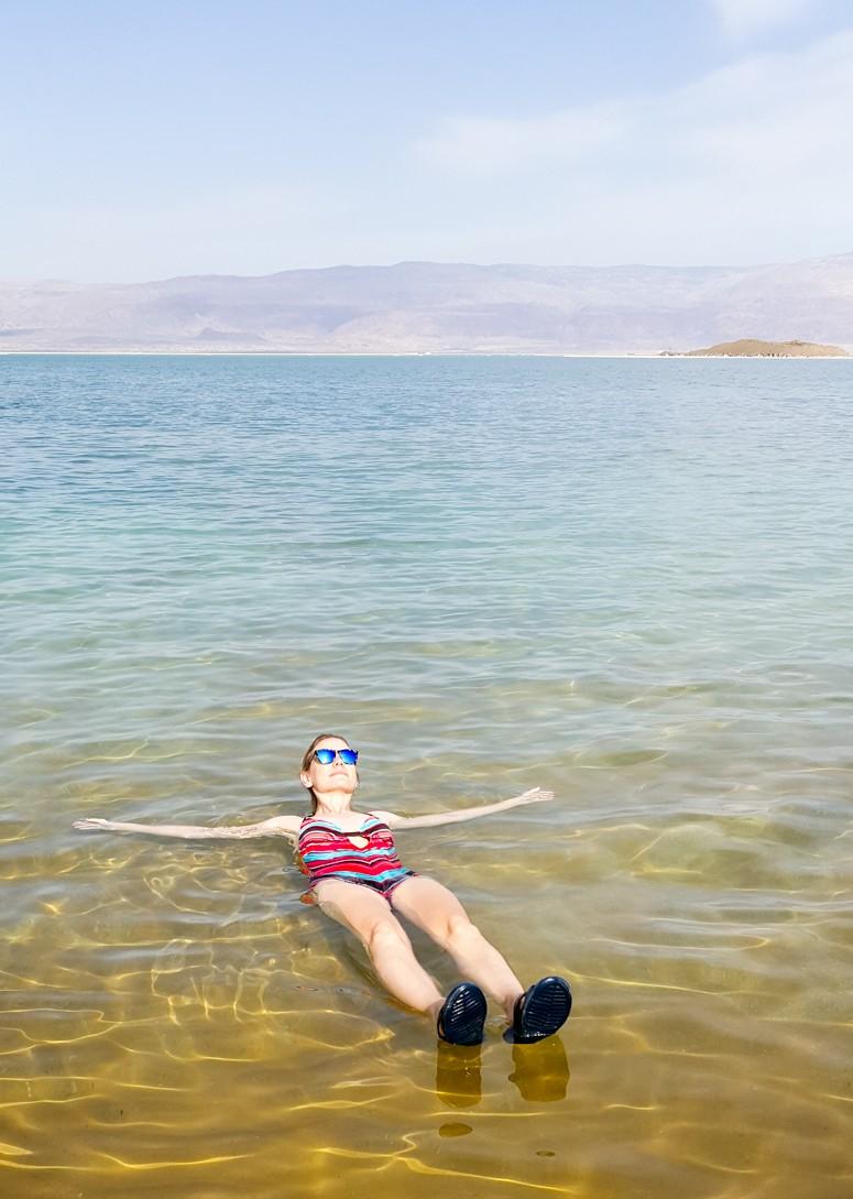 Bucket list travel must - floating in the Dead Sea!