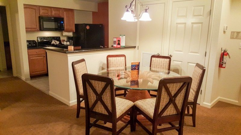Lake buena vista resort village spa in orlando fl dining room and kitchen of two bedroom suite workwithnaturefo
