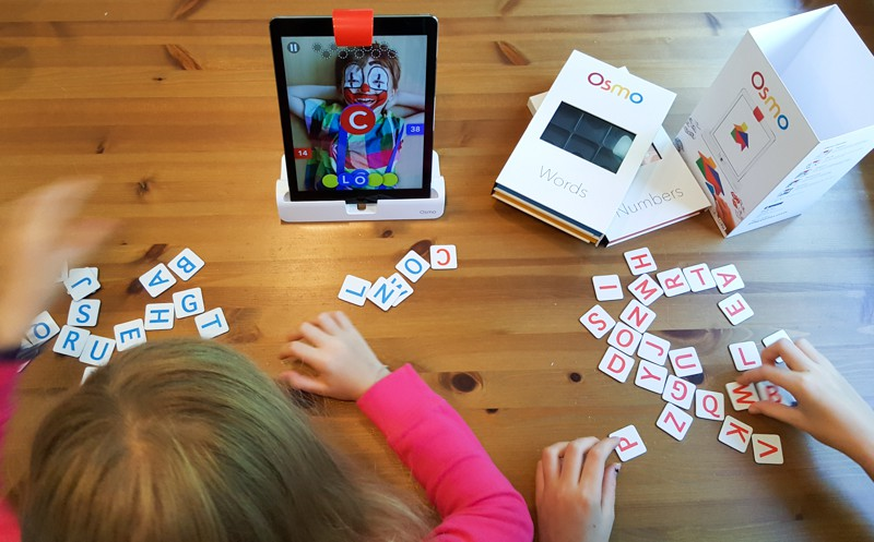Race against friends to solve and build the word with Osmo Words