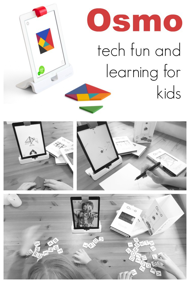 Fun technology great to help kids learn and play with words, numbers, physics, drawing, and shapes! Osmo is a fun game that will engage your kids!