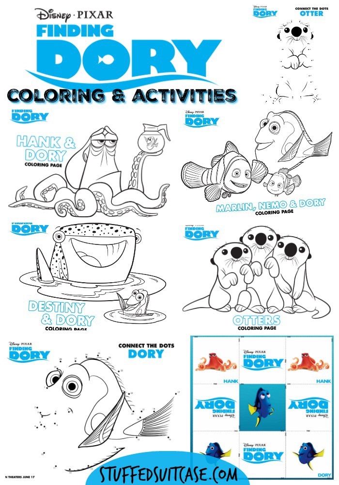 The new Disney Pixar movie Finding Dory is great for families! Watch the film and fall in love with all the quirky characters, then use these free printable coloring sheets and activity pages to keep the kids entertained!