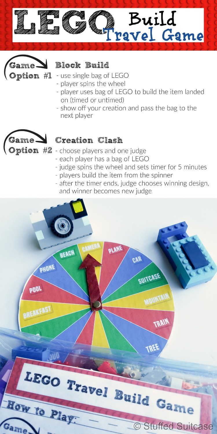 Looking for some new travel games? How about this great LEGO ideas game that encourages imaginative play and is easy to pack! Play two ways, simple block build or a creation clash option!