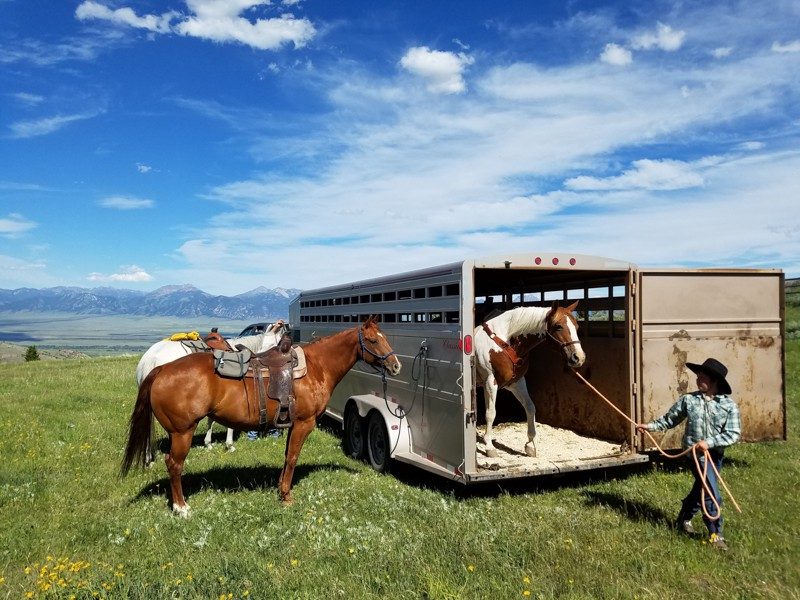 Horseback riding in the beautiful country of southwest Montana
