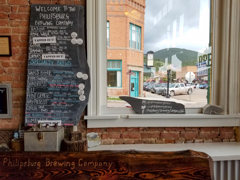 One of our favorite stops in Philipsburg, Montana, the family-friendly Philipsburg Brewing Co.