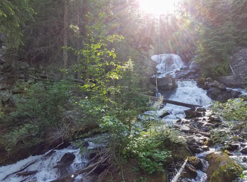 The illusive Lost Creek State Park waterfall near Anaconda, Montana!