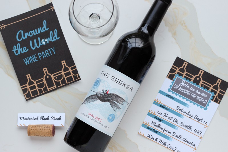 Wine Dinner Party Ideas Part - 38: Free Printable Invitations For Around The World Dinner Party Ideas