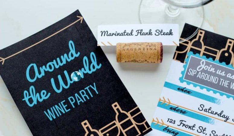 Around the World Wine & Dinner Party Ideas