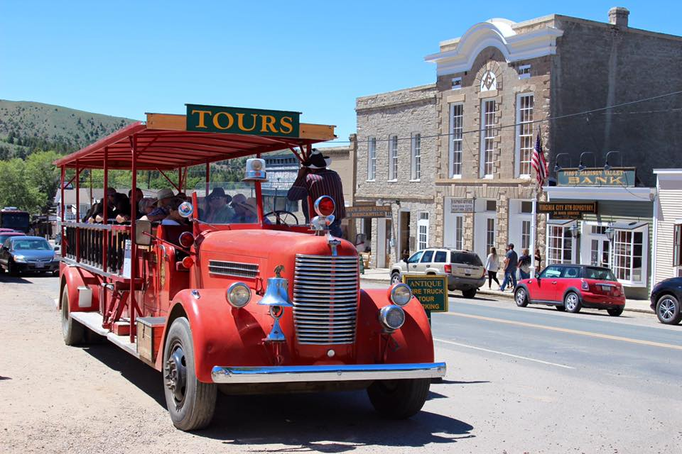 Take a tour of Virginia City aboard a Fire Truck