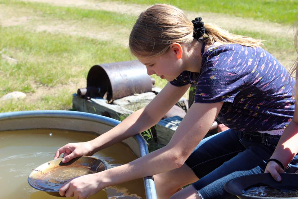 Panning for garnets at the River of Gold in Nevada City