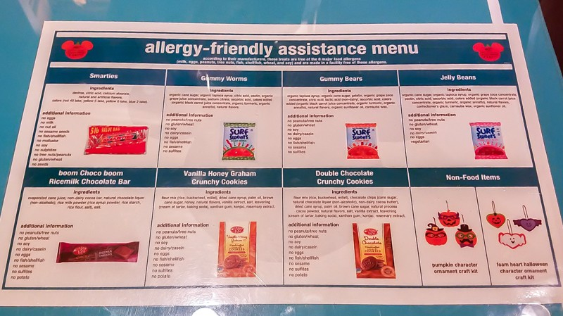 Allergy-friendly treat options at Mickey's Not So Scary Halloween Party | copyright Stuffed Suitcase