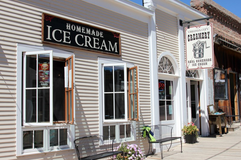 Delicious homemade ice cream in Virginia City