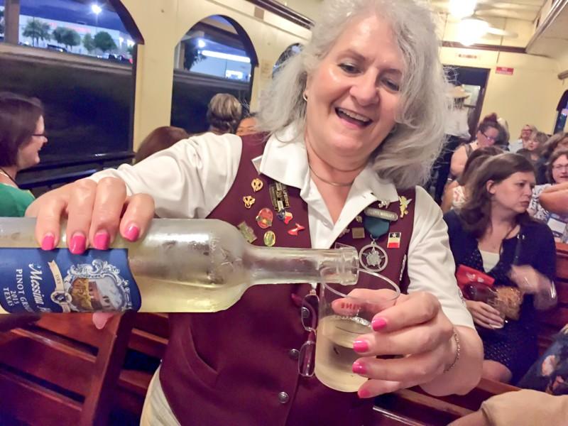 Fun time aboard the Grapevine Wine Train