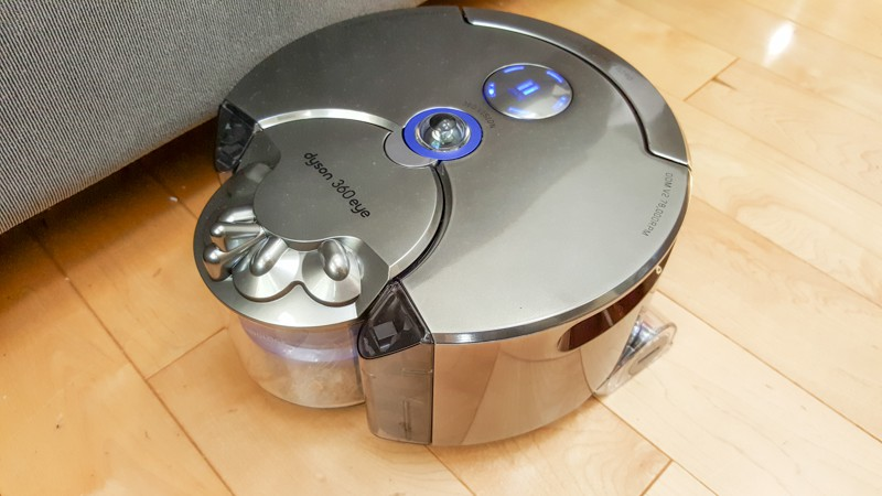 The Dyson robot vacuum works well at sweeping along edges