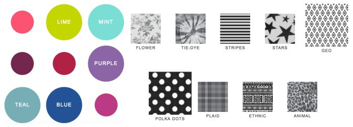 Kids can take the style quiz that asks a lot of questions like their favorite colors and prints.