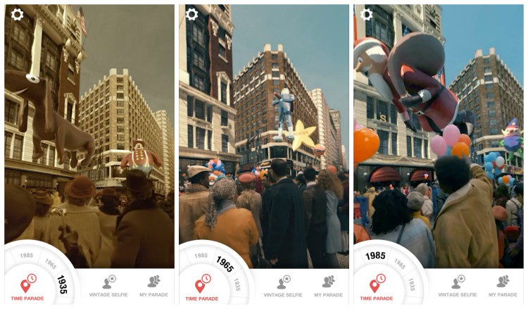 Interact with years past with the Macy's Day Parade Time Traveler App