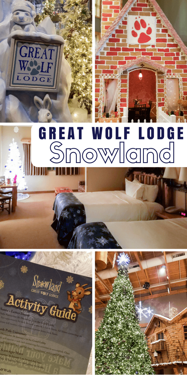 Great Wolf Lodge tips for Snowland holiday celebration - what it is and what to do! Great for family holiday getaway!