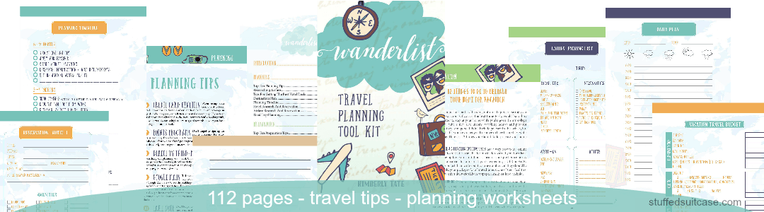 wanderlist travel book pages