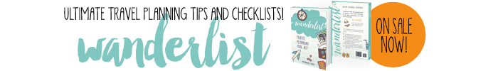 wanderlist travel planning tips checklists sale