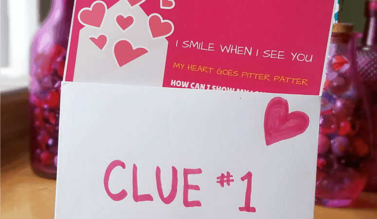 Valentines Scavenger Hunt – Free Printable Clues