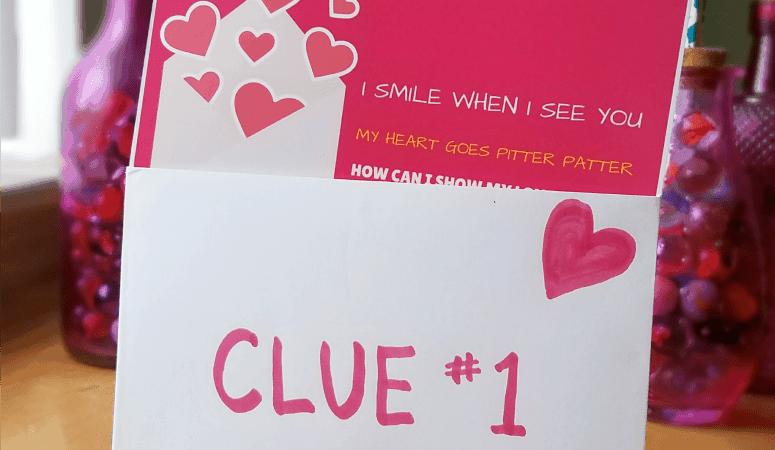 Valentines Scavenger Hunt Free Printable Clues For Gift Treasure Hunt