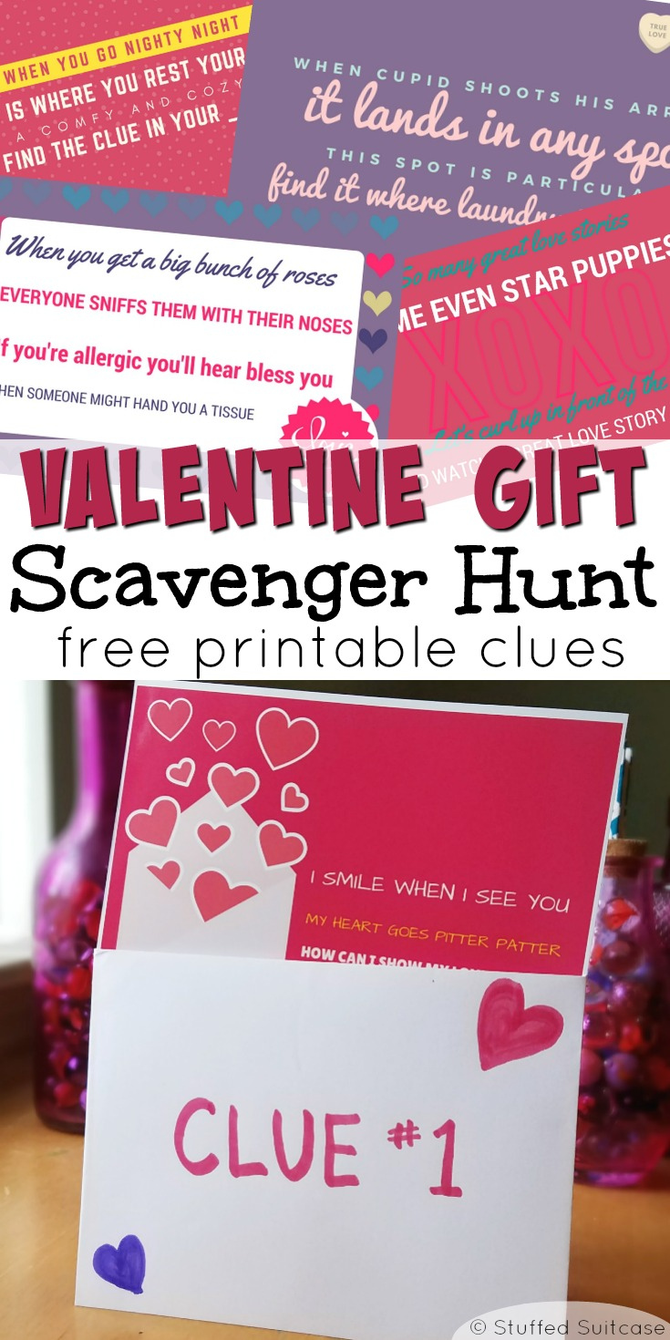 Valentines Scavenger Hunt | Valentines Day | treasure hunt | valentines gift ideas | valentine printable