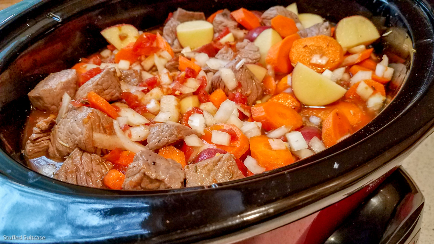 Crockpot Beef Ragout for Beauty and the Beast Dinner © Stuffed Suitcase
