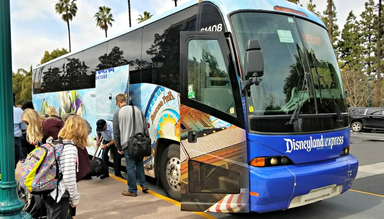 Disneyland Resort Express shuttle from SNA and LAX.