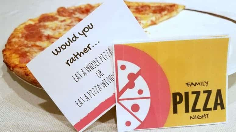Family Pizza Night – Funny Jokes and Conversation Starters Printable