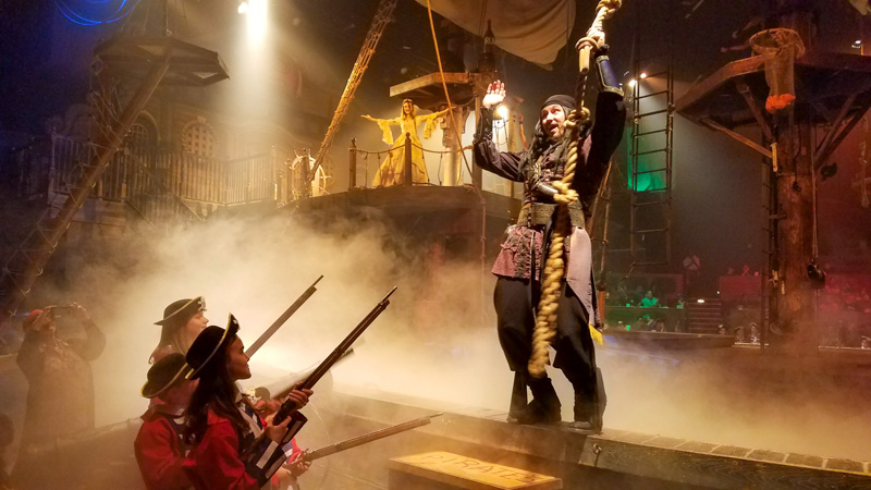 The Pirate's Dinner Adventure in Buena Park, CA is a fun spot for families! | © Stuffed Suitcase
