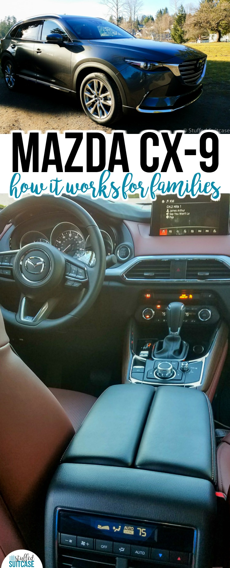 Need a new family car? The Mazda CX-9 looks great & has lots of features great for busy families! Car review   family vehicles   cars for families
