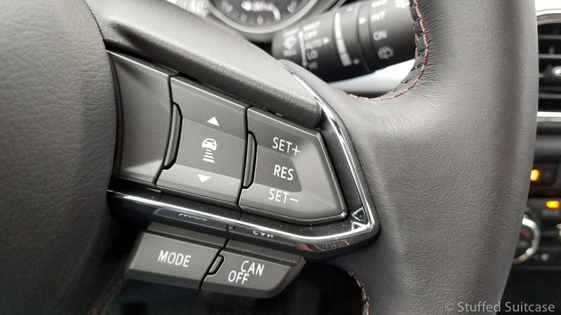 Steering wheel controls for audio and cruise | © Stuffed Suitcase