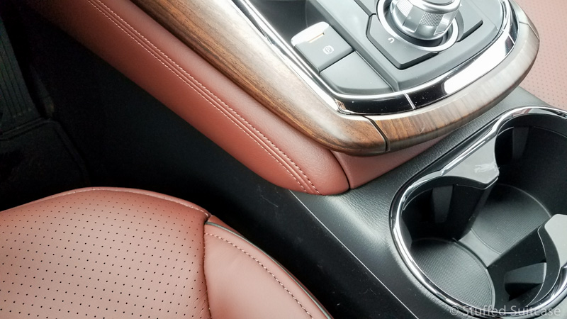 Gorgeous nappa leather and rosewood trim on Signature Mazda CX-9 | © Stuffed Suitcase
