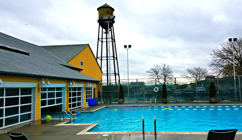 The pool at the Semiahmoo Resort has an indoor/outdoor feature | © Stuffed Suitcase