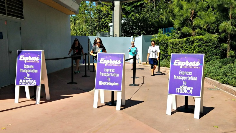 Save time with Express Transportation at Epcot in Walt Disney World - secret tip for hopping between parks at WDW | Disney tips