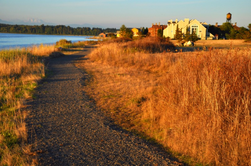 Lovely nature trails for walking along the water along the Semiahmoo peninsula | photo courtesy of the Semiahmoo Resort