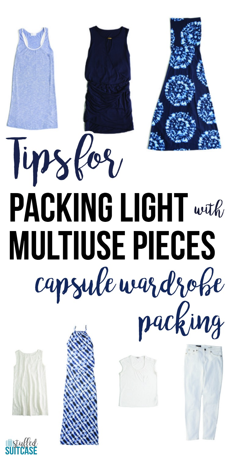 Pack light for your vacation with a travel capsule wardrobe built from pieces that mix and match - great fashion tip for travel! | travel tips | packing tips | travel fashion | capsule wardrobe