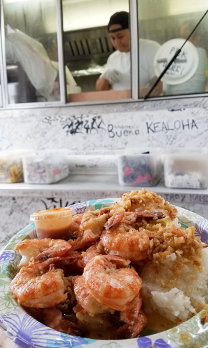 Eating is a part of travel, so when you're looking for things to do in Oahu don't miss the shrimp trucks on the North Shore