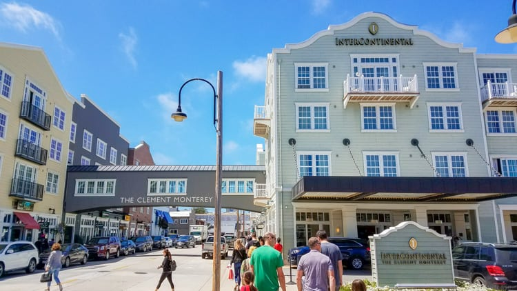 exterior view of intercontinental hotel on cannery row in monterey