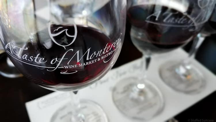 wine glass at taste of monterey
