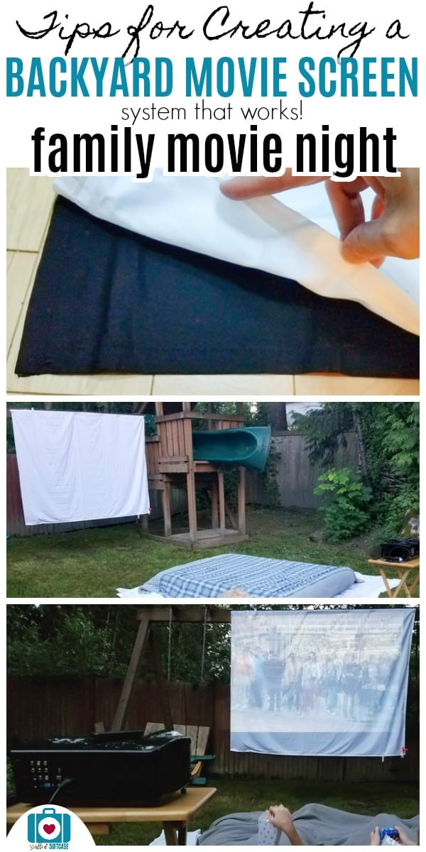 Tips for backyard movie night - how to make a backyard movie theater and screen | backyard ideas | family movie night