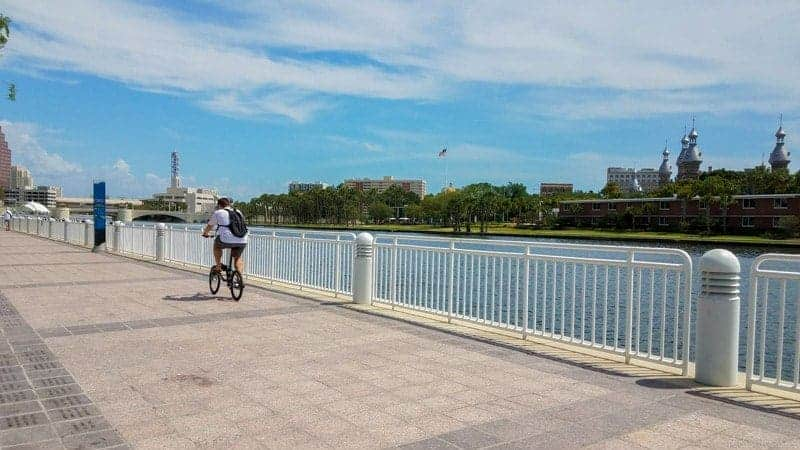 Biking on the Riverwalk of Tampa Bay