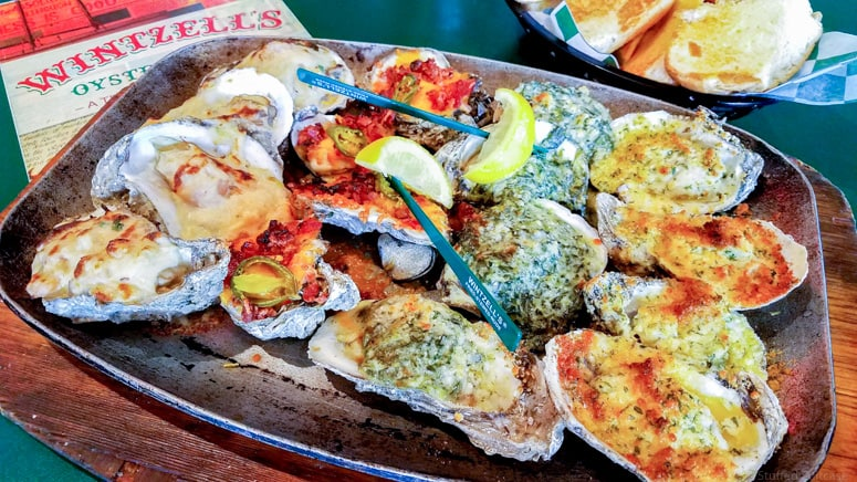 alabama oysters at wintzell's oyster house restaurant in mobile, alabama