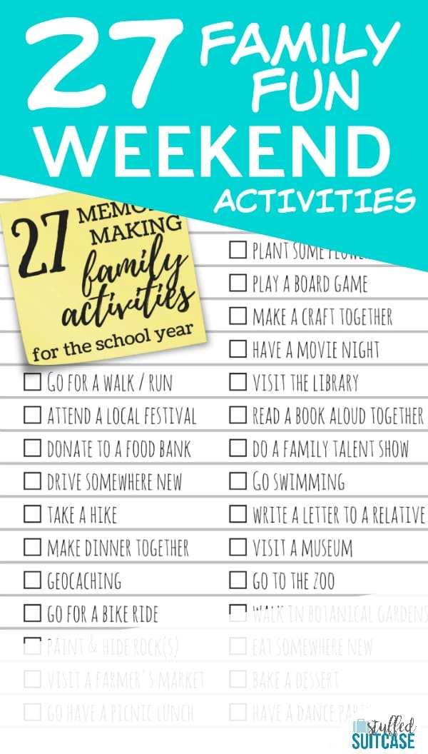 27 memory making activities to do with your kids during