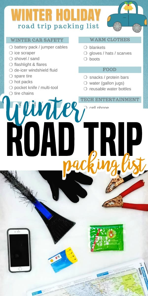 Don't forget these winter road trip essentials when you're heading out for your holiday vacation - winter travel packing tips #roadtrip