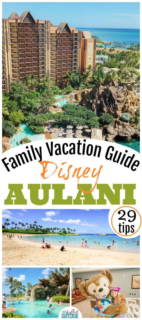 Family vacation guide for Disney Aulani - plan an awesome Hawaii family vacation with these 29 tips - how to score activities, beach chairs, and the perfect family photo!