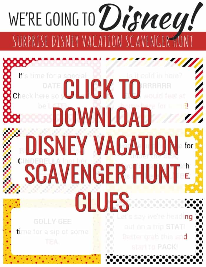 image about You Re Going to Disney World Printable called Disney Scavenger Hunt - Astounding Getaway Speculate for Young children