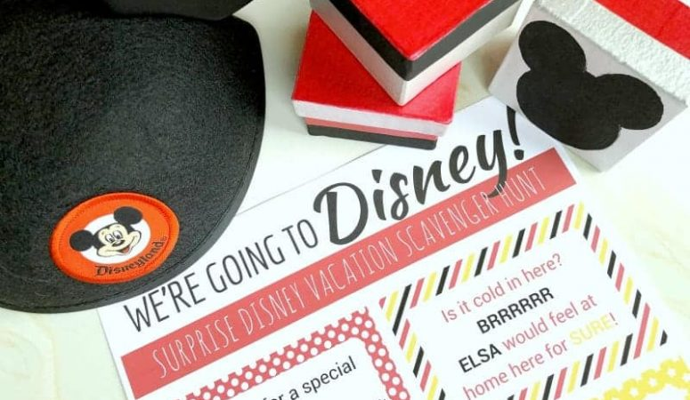 Create a Disney scavenger hunt to surprise your kids with a Disney vacation!