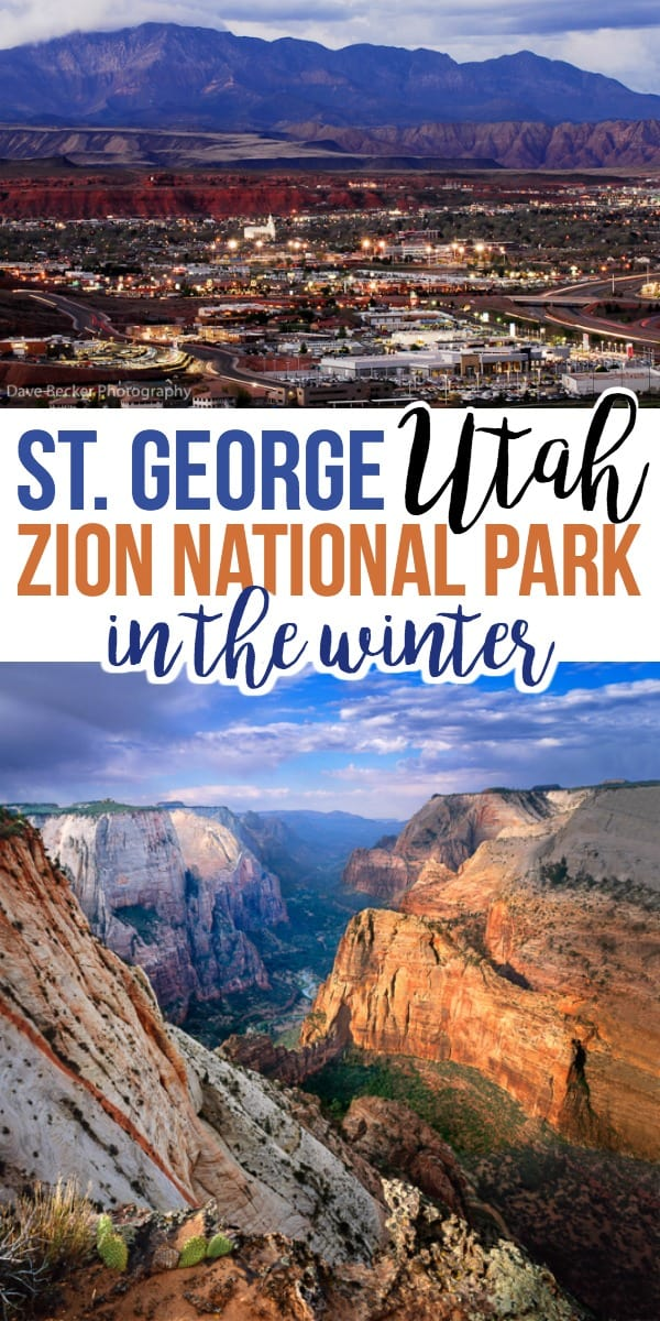 Winter travel planning to St. George Utah
