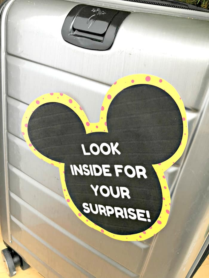 End your Disney scavenger at the suitcase with a fun surprise inside! © Stuffed Suitcase