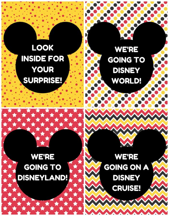CLICK TO DOWNLOAD Disney Vacation Surprise Announcement Printables © Stuffed Suitcase